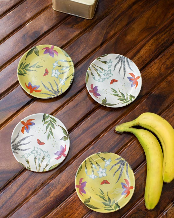 Botanical Tea Plates (Set of 4)