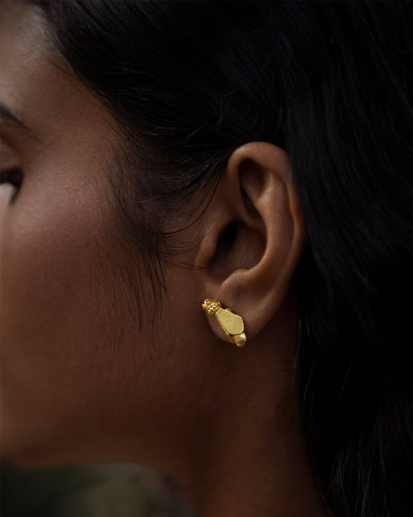 African Bug Earrings - Gold