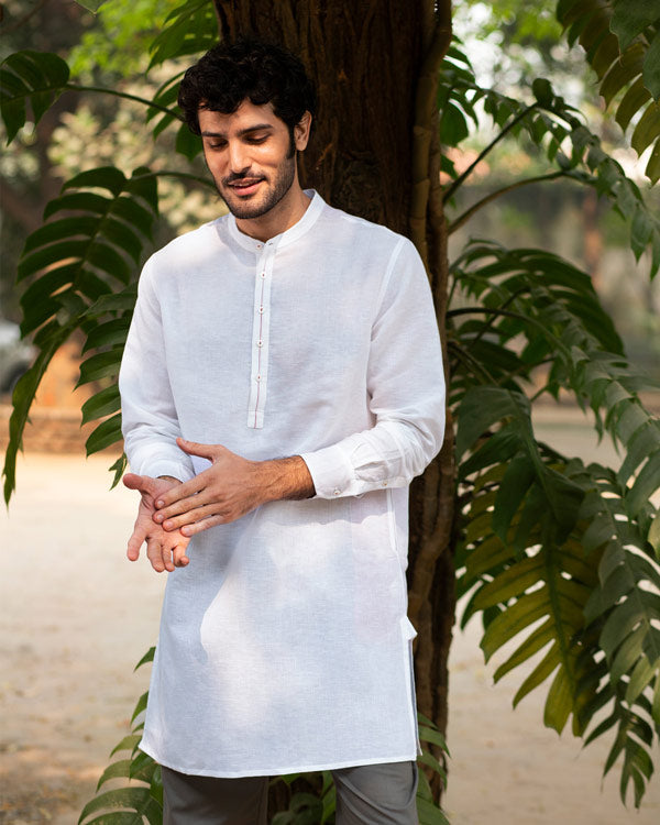 Chandni Chowk Kurta - White