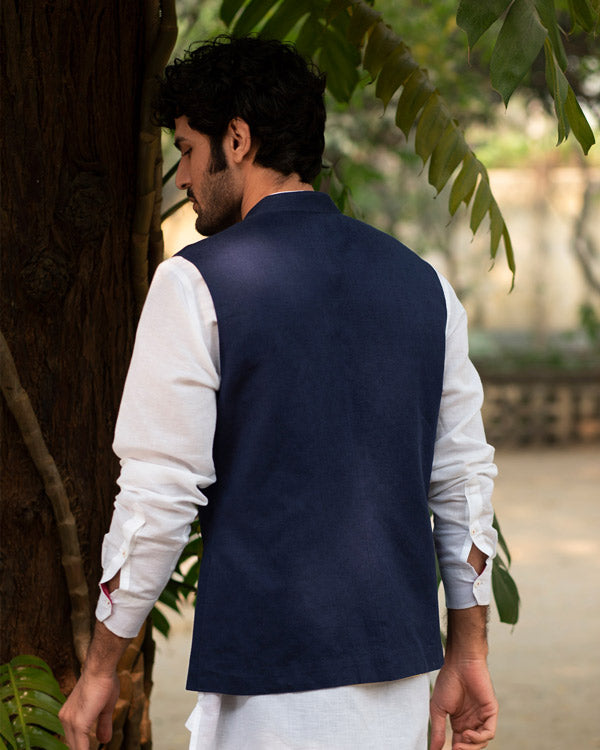 Nehru Jacket - Blue