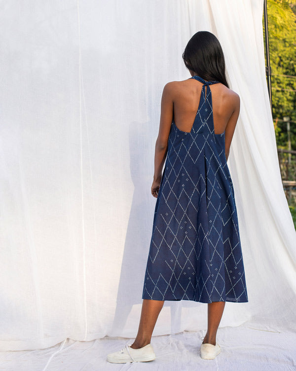 Halter Dress - Indigo