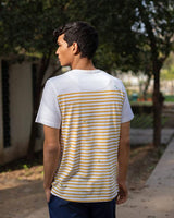 Marshy Land T-Shirt - White & Ochre