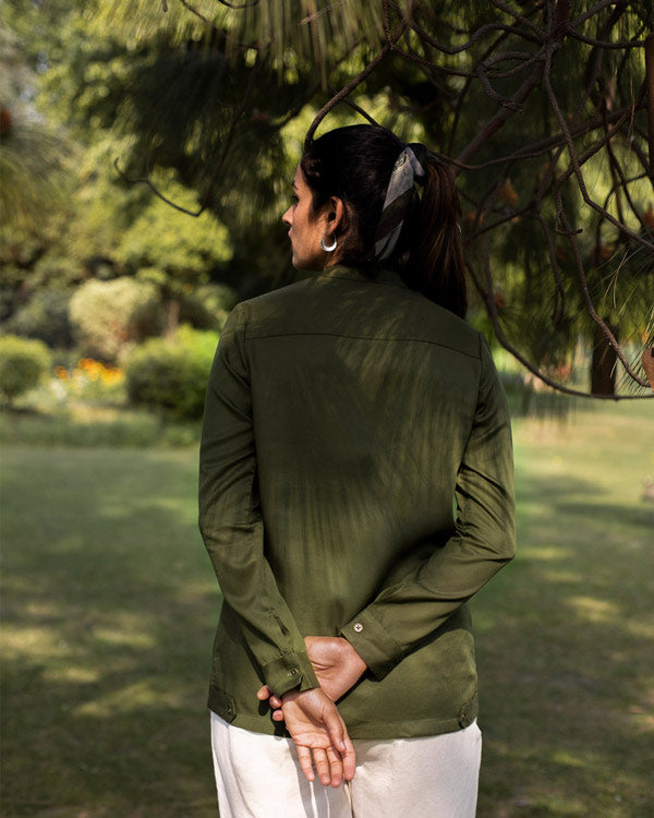 Safar Shirt Jacket - Olive