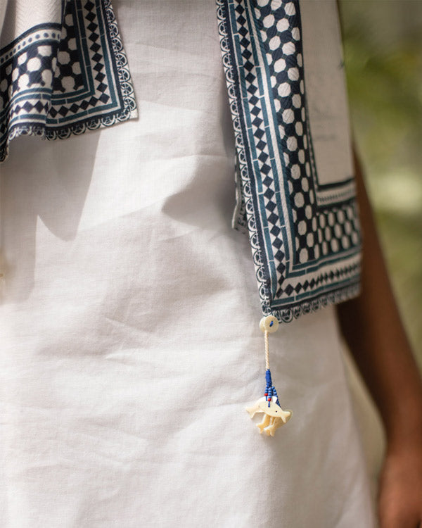 Coast Scarf - White & Blue