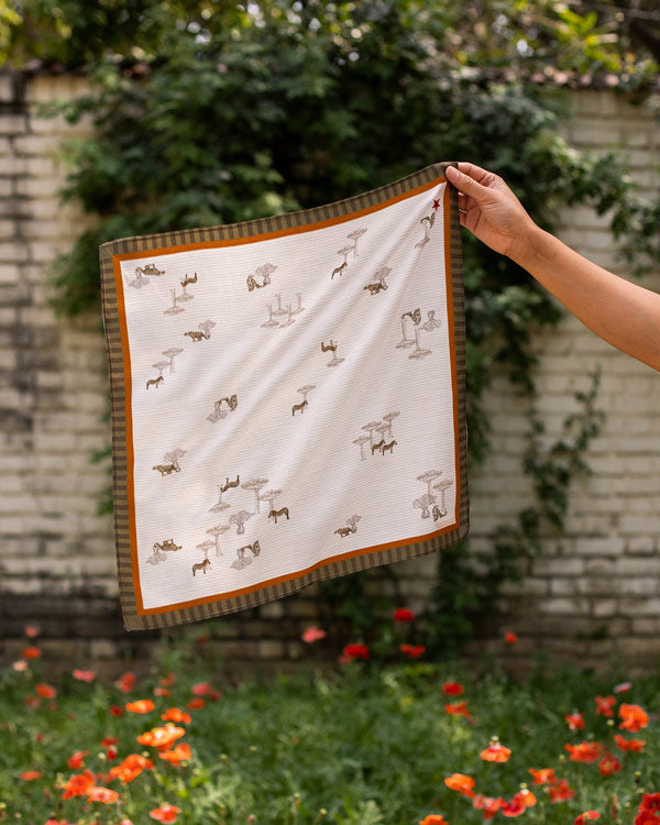 Safari Tribe Bandana - Beige & Brown