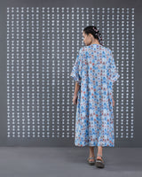 Front Gathered Kaftan - Blue