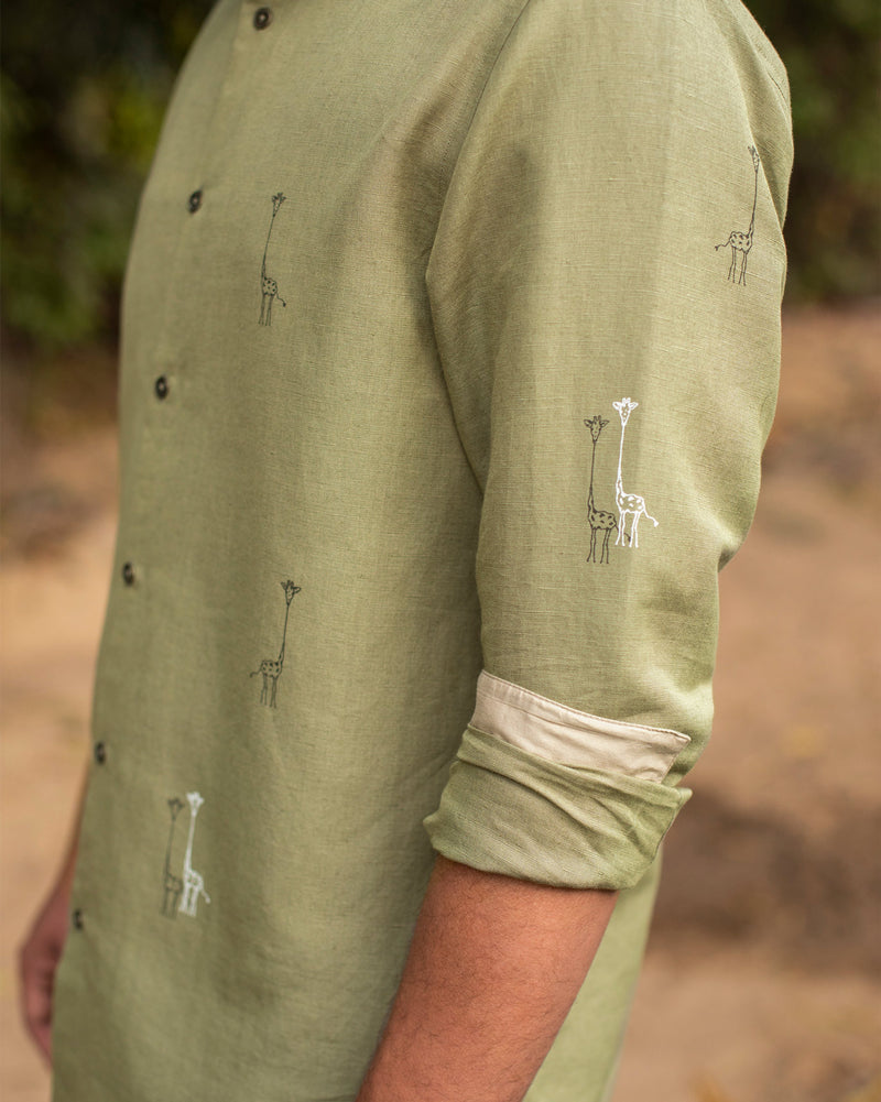 Safar Shirt - Light Olive