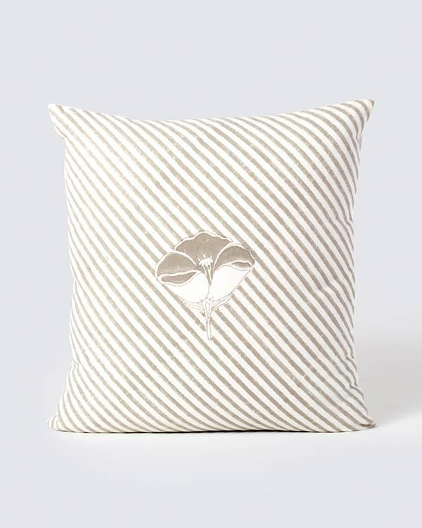 Frangipani Stripe Cushion