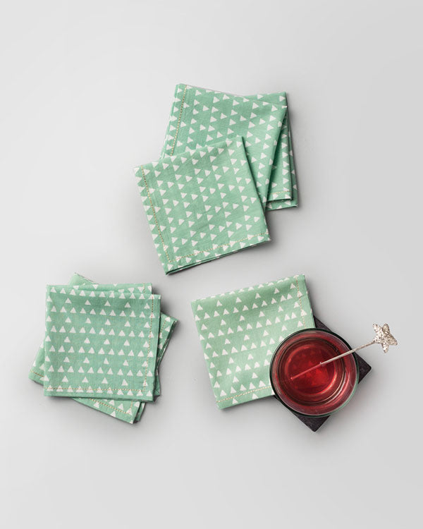 Zan Cocktail Napkins (Set of 6) - Jade