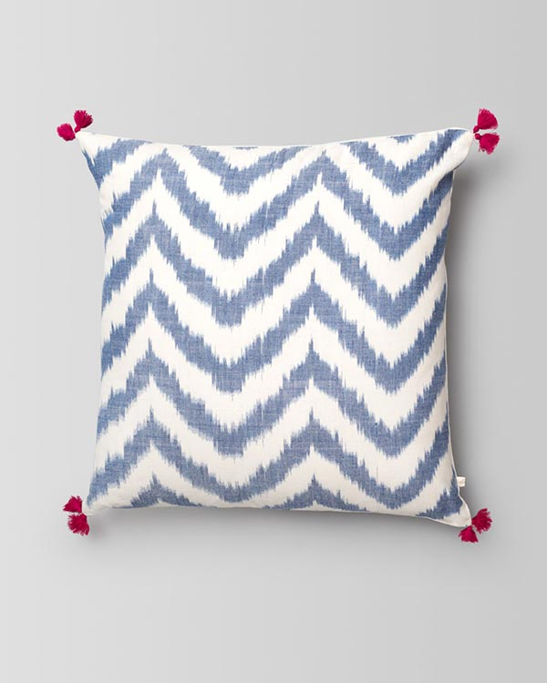 Kasuri Chevron Cushion