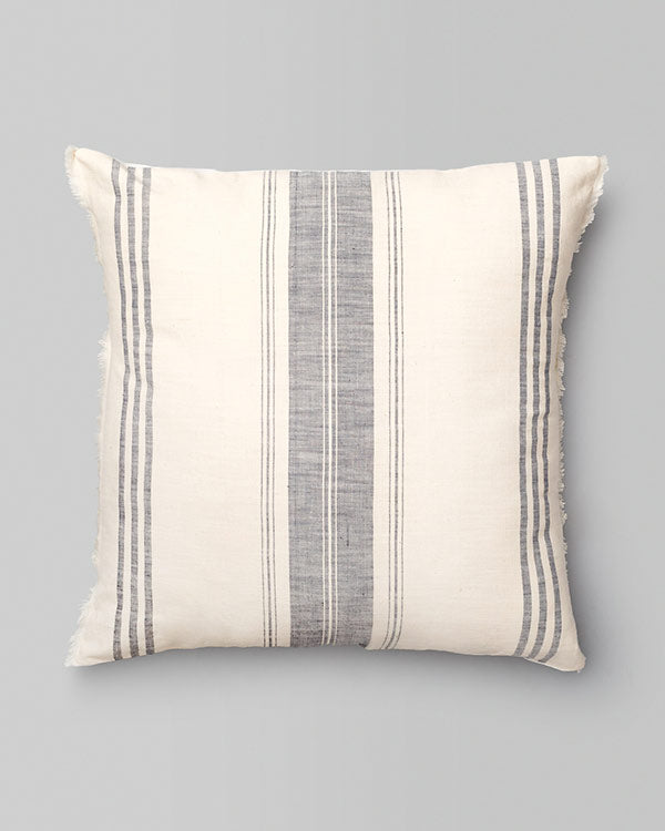 Kemuri French Stripe Cushion - Grey
