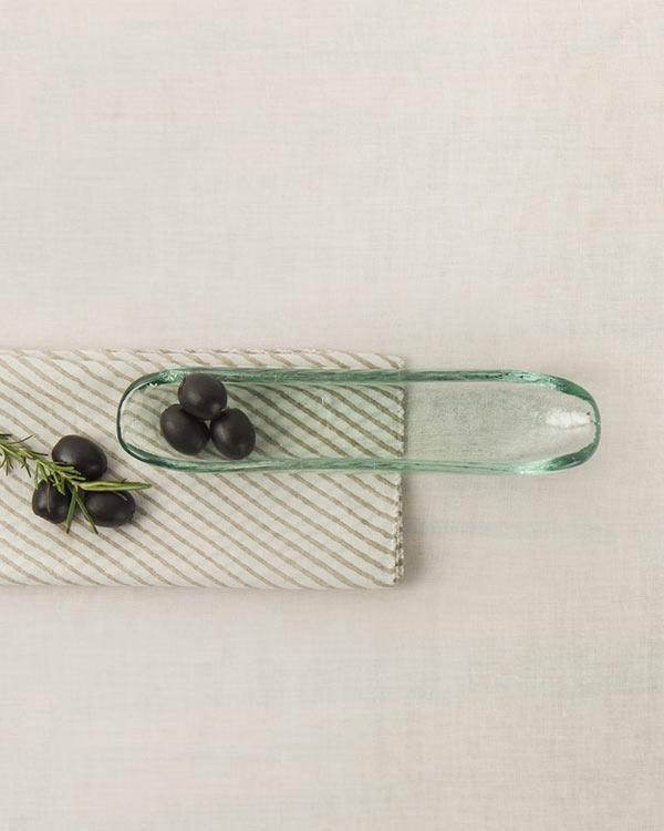 Glass Olive Boat - Small