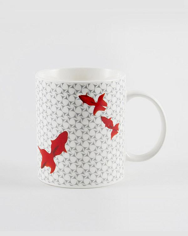 Guppy Shup Flame Mug - Red & Grey