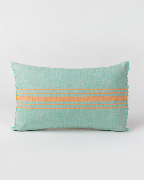 Ber Ber Stripe Pillow - Aqua