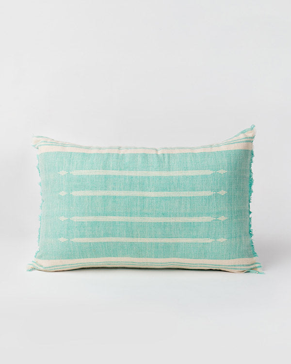 Ber Ber Diamond Pillow - Aqua