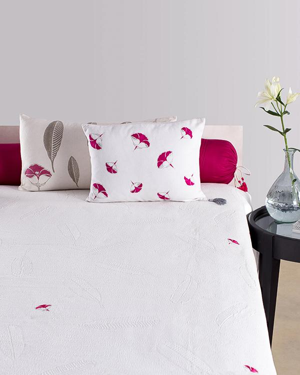 Frangipani Matelasse King Bed Cover