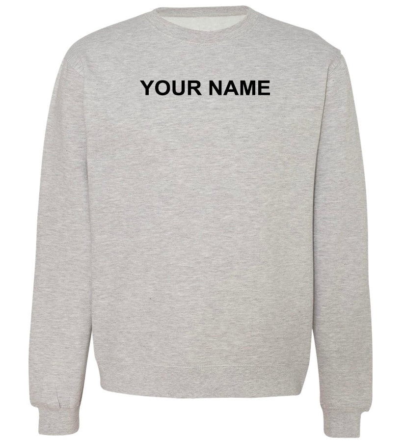 Police / Fire Academy required Sweatshirts - Last Name Front & Back