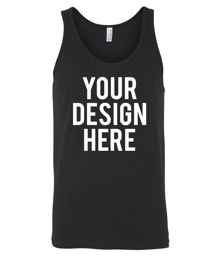 Your Own Design - Unisex Tank Top - Direct To Garment (DTG) Printing