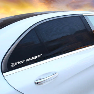 Custom Instagram Username Decal - White