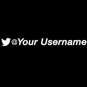 Custom Twitter Username Decal - White