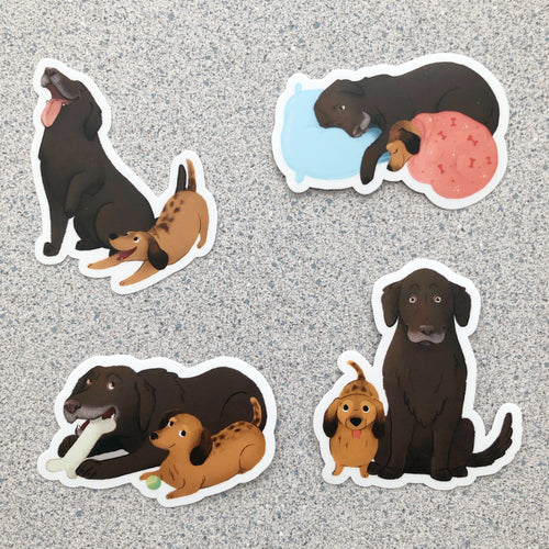 4-Pack Jaxon and Zoie Stickers - Set 1