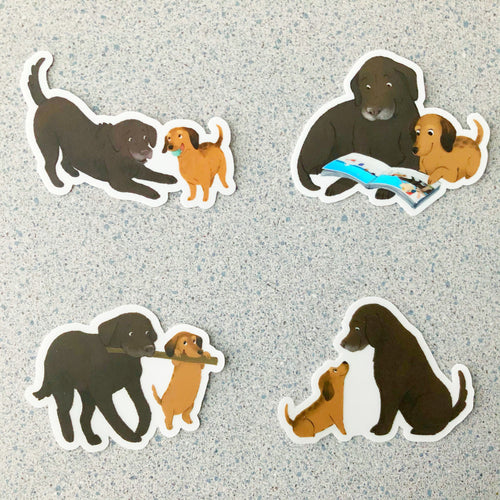 4-Pack Jaxon and Zoie Stickers - Set 2