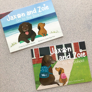2-Book Bundle: Jaxon and Zoie Go to the Beach and Go to School