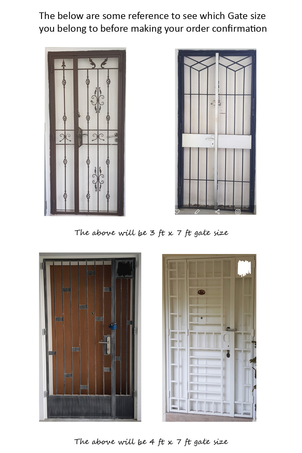 know your gate size