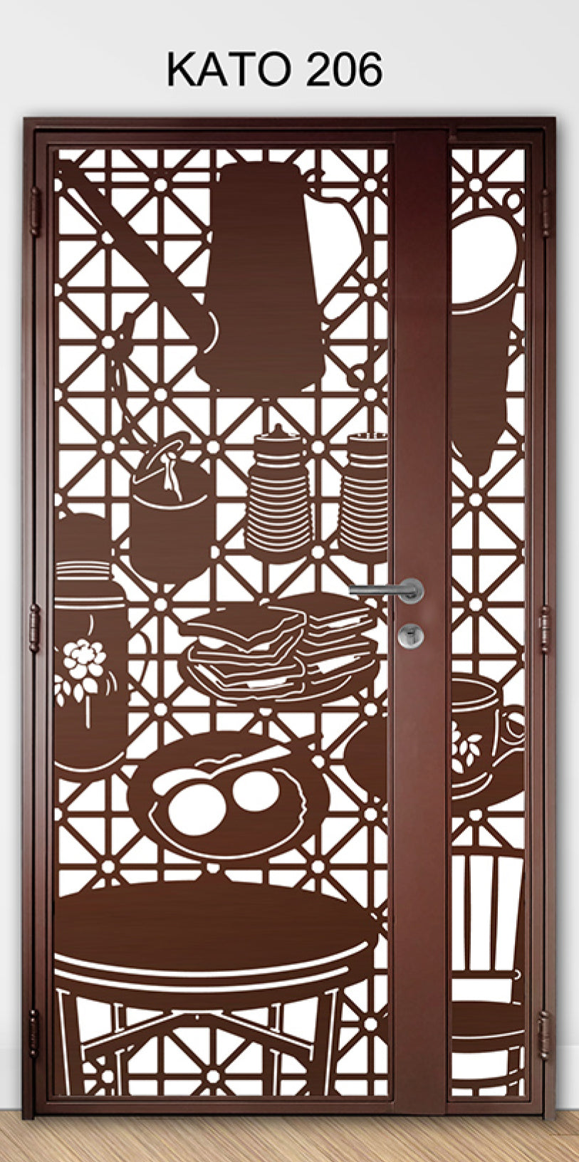 KATO 3D laser Cut mild steel gate 206