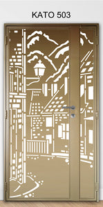 KATO 3D laser Cut mild steel gate 503