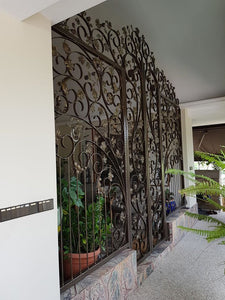 projects mild steel laser cut design entrance 30