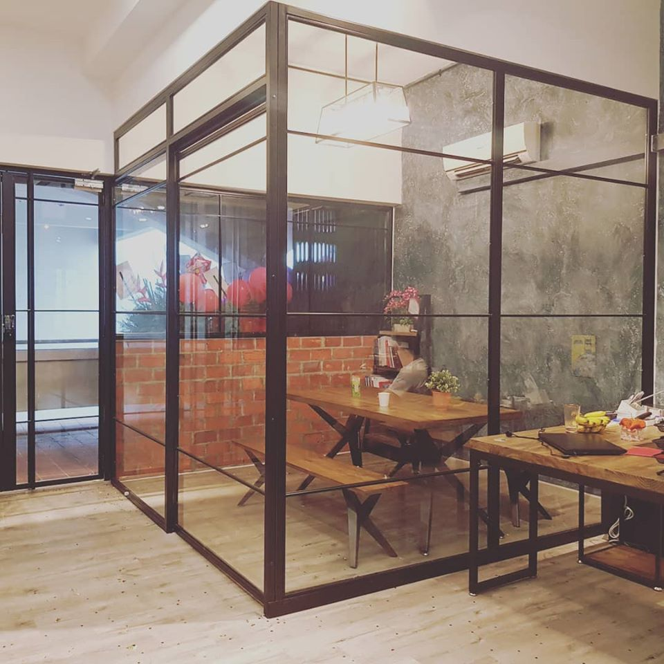 Mild steel frame - steel glass 11