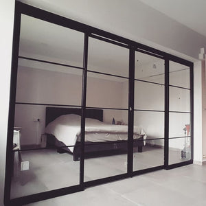 Mild steel frame - steel glass sliding 5