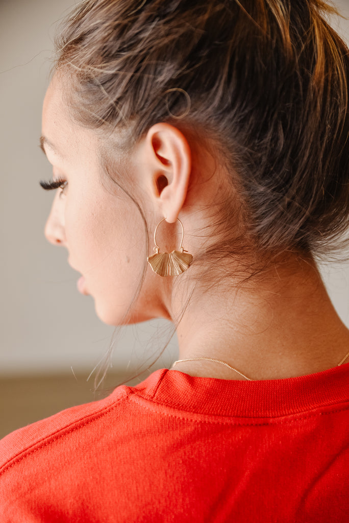 Athena Gold Leaf Earrings