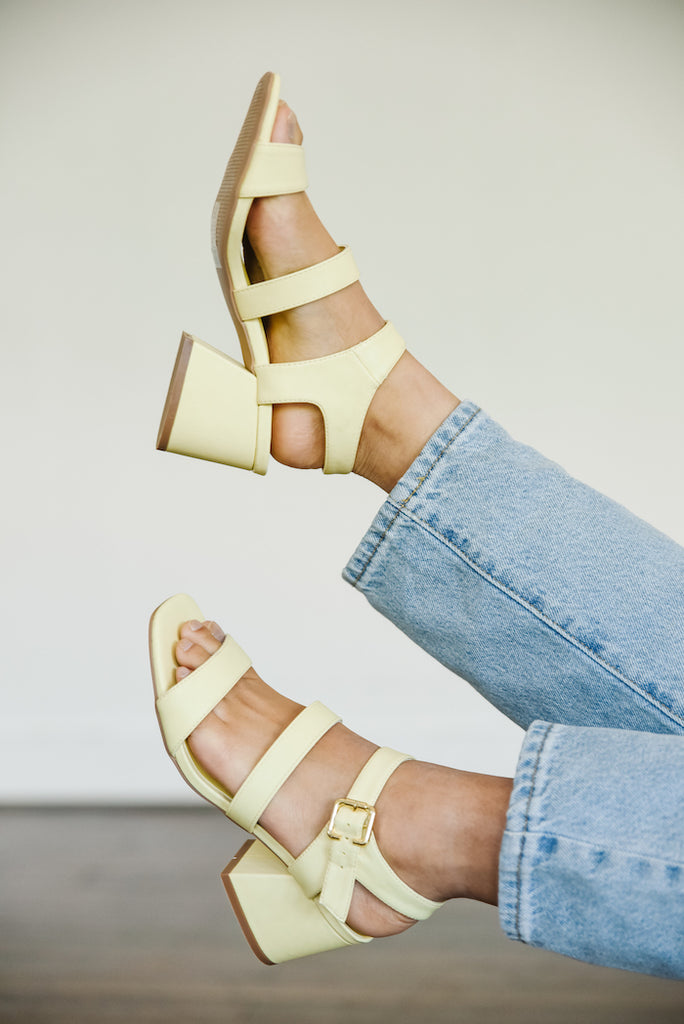Lovely Lemon Chunky Heel
