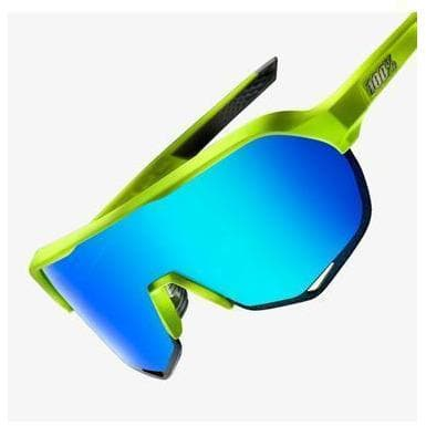 100% Eyewear S2 - Matte Flourescent Yellow - Green Multilayer Mirror Lent Default 100%