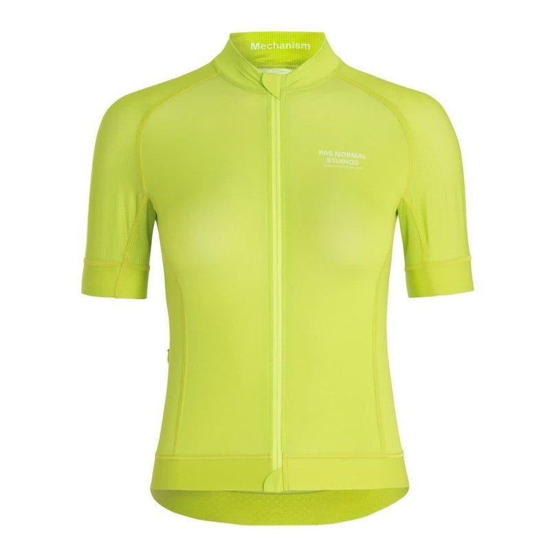 PAS NORMAL STUDIOS Mechanism Women Jersey Bright Lime Default Velodrom Barcelona