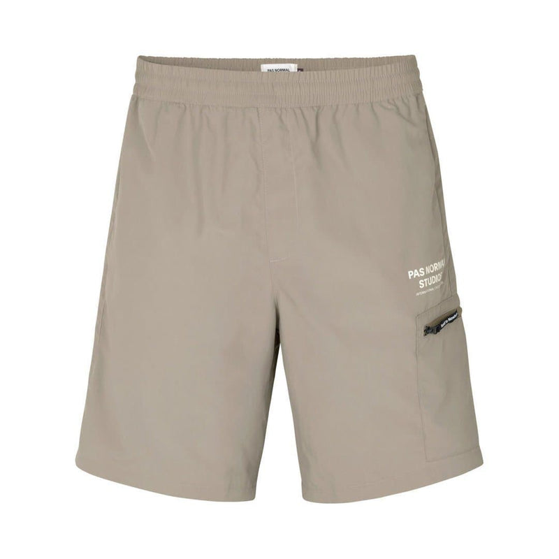 PAS NORMAL STUDIOS Off Race Shield Shorts Beige Default Velodrom Barcelona