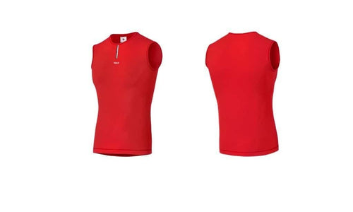 PedalEd Merino BaseLayer Sleeveless Essential Red Default Pedaled