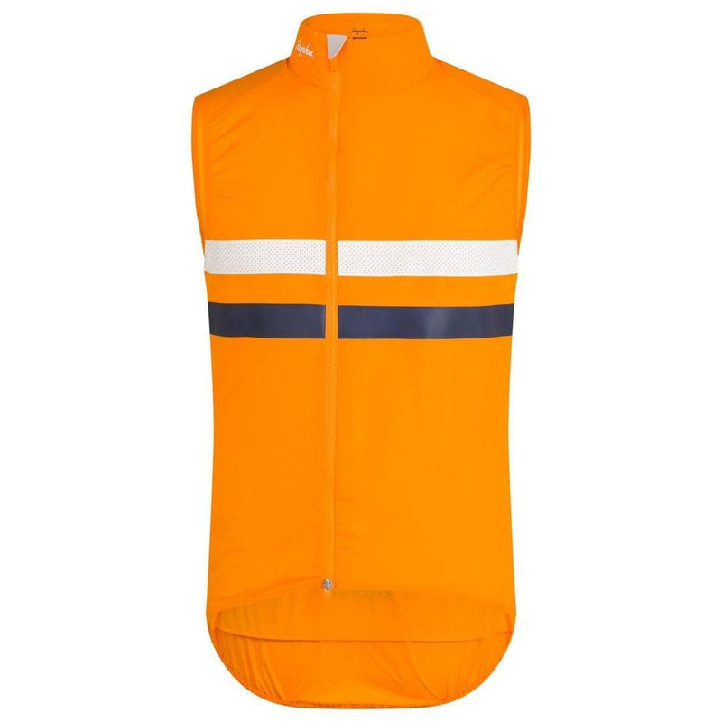 RAPHA Brevet Gilet with Pockets Orange Default Rapha