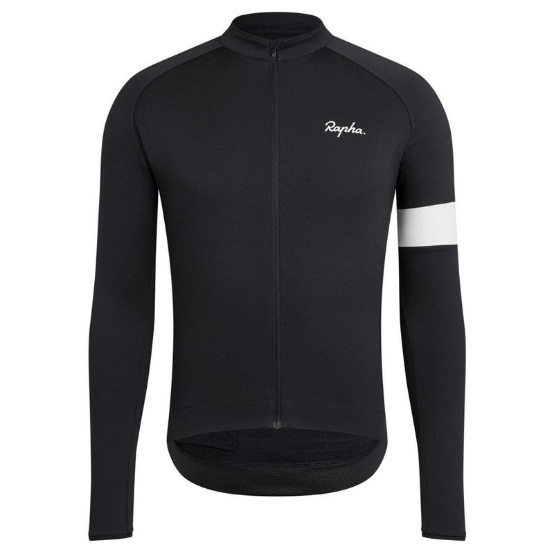 Rapha Core Long Sleeve Jersey Black Default Velodrom Barcelona