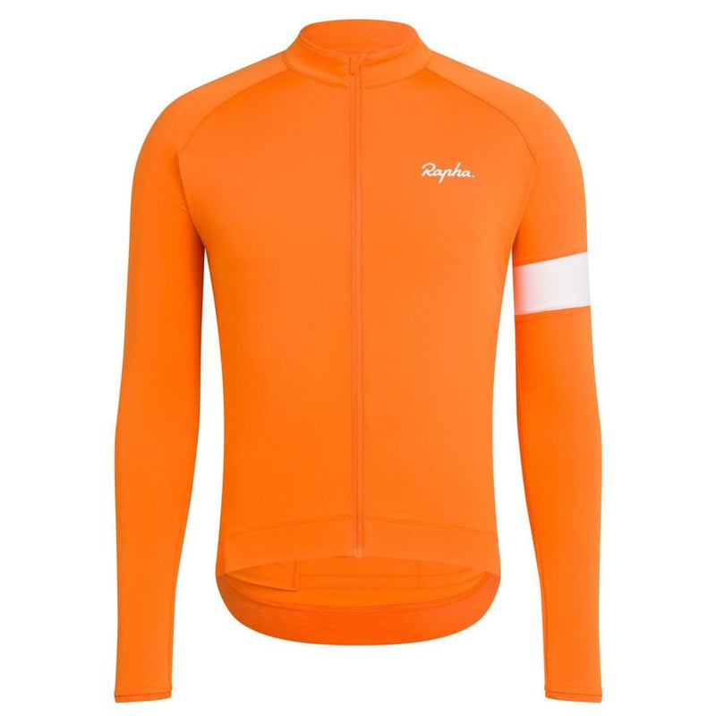 Rapha Core Long Sleeve Jersey Orange Default Velodrom Barcelona