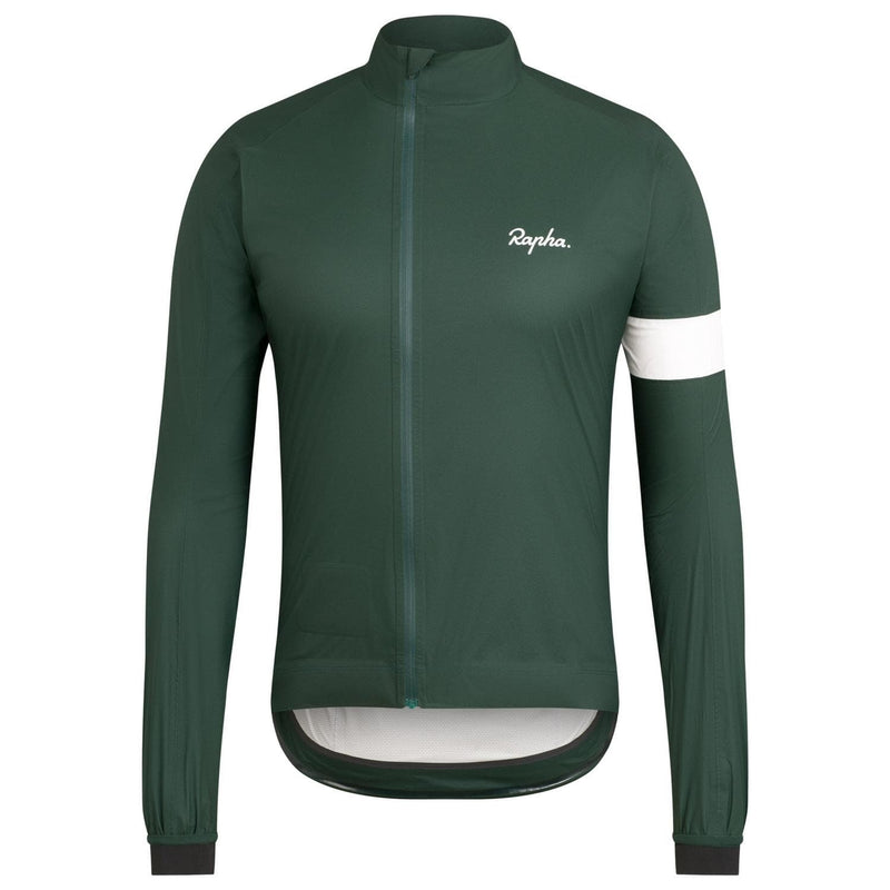 Rapha Core Rain Jacket II - Dark Green DNG Default Velodrom Barcelona