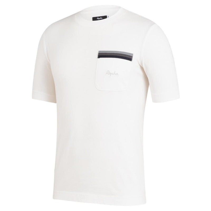 RAPHA Logo Pocket T-shirt - White Default Rapha