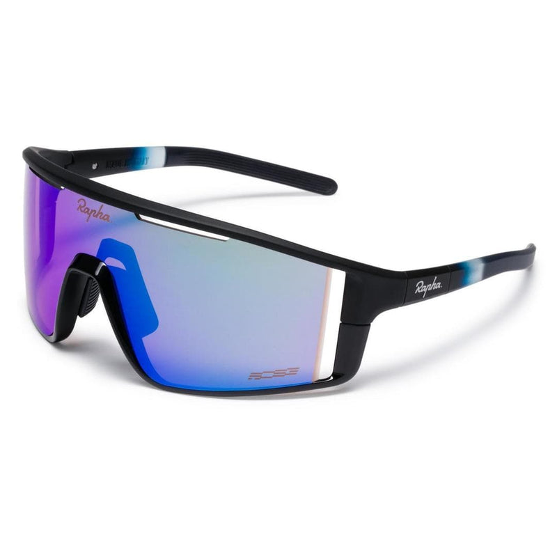 RAPHA PRO TEAM FULL FRAME GLASSES - Dark Navy/Purple Green Lens Default Velodrom Barcelona