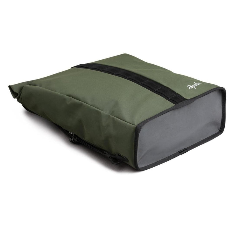 Rapha Roll Top Backpack Dark Green Default Velodrom Barcelona