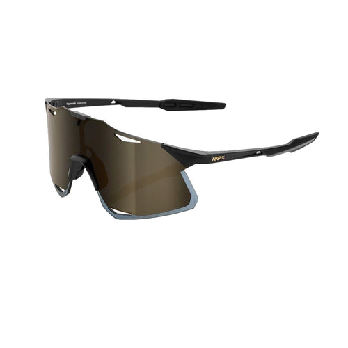 RIDE 100% Eyewear Hypercraft - MATTE BLACK - SOFT GOLD MIRROR LENS Default 100%
