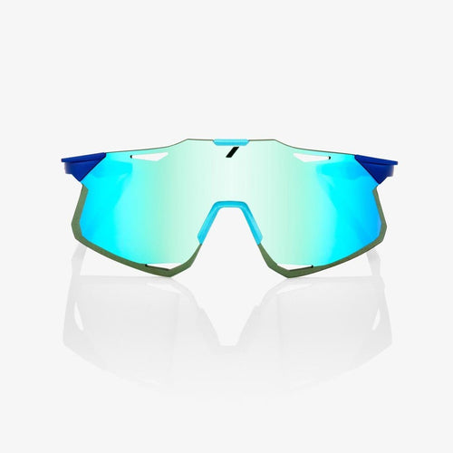 RIDE 100% Eyewear Hypercraft - MATTE METALLIC INTO THE FADE - BLUE TOPAZ MULTILAYER MIRROR LENS Default 100%