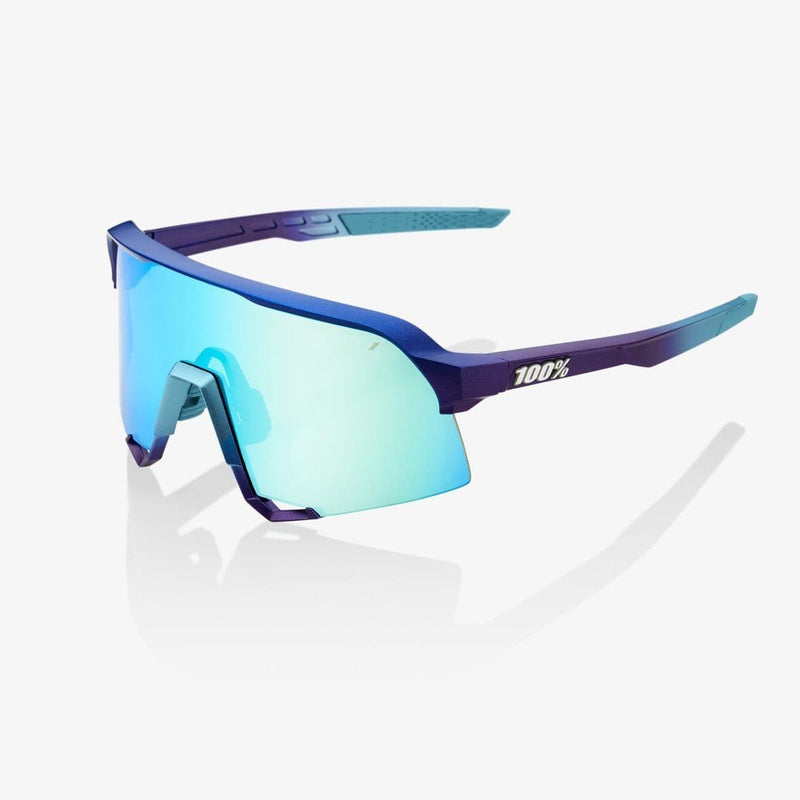 RIDE 100% Eyewear Matte Matallic Into the Fade Blue Topaz Multilayer Mirror Lens Default 100%