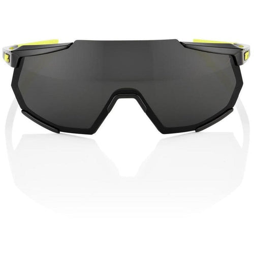 RIDE 100% Eyewear Racetrap Gloss Black Smoke Lens. Default 100%